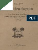 Revista Do Ihgrn - 1910