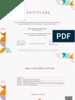 Jogos e Cultura Digital Na Educação -Certificado 3523