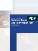 2021 Syracuse Police Reform and Reinvention Plan