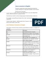 Connectors in English Grammar