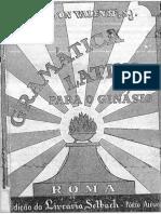 Gramatica Latina Para as 4 Serie Do Ginasio Text