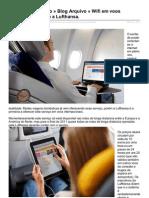 Wifi em voos internacionais com a Lufthansa.