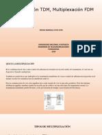 Multiplexación TDM, Multiplexación FDM_ Ericka Cuta