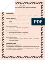 Tema 2, La Concurrencia Vocálica
