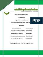 EQUIPOS DE PROTECCION PERSONAL INFORME3