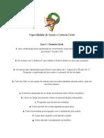 ASSEIO E CORTESIA CRISTÃ