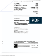 IEC 60092-352 Choice & Installation of Cables for Low Voltage Power Systems
