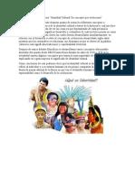 Lectura Identidad Cultural Un concepto que evoluciona