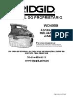 Manual - Aspirador WD 4050 - 4070