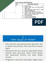 TIME VALUE OF MONEY - Pertemuan X - 11 Desember