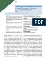Ayuda al diagnóstico del trastorno de identidad disociativo estudio de reconocimiento de patrones de biomarcadores cerebrales