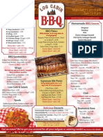 Log Cabin BBQ Menu
