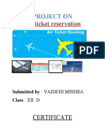 air ticket reservation