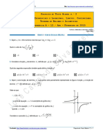 Proposta de Teste Global n.º 2 - Matemática A - 12.º Ano - Fevereiro de 2015