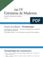 Estruturas IV - Aula 4 - Projetos de Telhados - conceitos