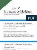 Estruturas IV - Aula 1 - Introdução e apresentação do conteúdo