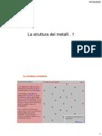 La struttura dei metalli 1