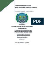 informe N° 01 de  fisicoquímica