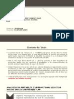 Analyse de La Rentabilite d'Un Projet Dans Le (1) (2)