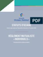 Statuts Et Règlement Mutualiste Individuel Ociane