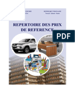 Repertoire Des Prix de Refrence Edition 2018