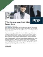 7 Tipe Karakter Yang Selalu Ada Dalam Drama Korea
