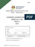 Instrumen Numerasi Bertulis Sk Saringan 2 Thn 1 2018