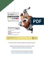 Programa Foro Internacional 30 Años de La Conciliación en Colombia
