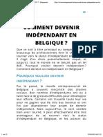 Comment devenir indépendant en Belgiqueen 2019 ? - Entreprenant.be