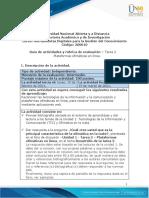 Guía de actividades y rúbrica de evaluación - Unidad 1 - Tarea 2 - Plataforma de ofimáticas en línea