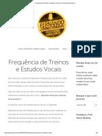 Frequência de Treinos e Estudos Vocais _ Fernando Zimmermann