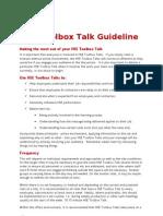HSE Toolbox Talk Guideline