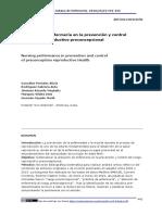 ACTUACION DE LA ENFERMERA EN LA PREVENCION Y CONTROL DEL RIESGO REPRODUCTIVO