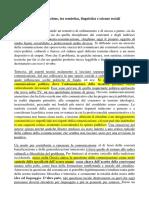 Filosofie Della Comunicazione, Tra Semiotica, Linguistica e Scienze Sociali, Riassunto
