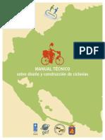Manual técnico de diseño y construcción de ciclovías