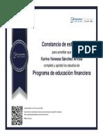 Certificado Programa de Educación Financiera