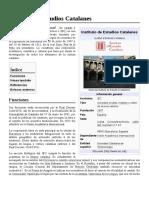 Instituto de Estudios Catalanes