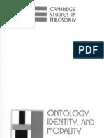 Ontology, Identity, and Modality_0521791642