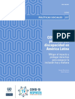 COVID-19 y Las Personas Con Discapacidad en América Latina, Mitigar El Impacto y Proteger Derechos Para Asegurar La Inclusión Hoy y Mañana