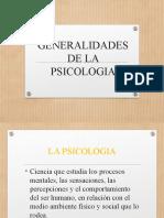GENERALIDADES DE LA PSICOLOGIA