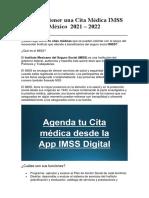 Cómo Obtener Una Cita Médica IMSS México