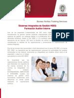 Syllabus Formacion Auditores Internos Sistemas Integrados de Gestión