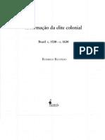 Ricupero, Rodrigo. a Formação Da Elite Colonial