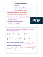 NOTES - Introduction to Trigonometry