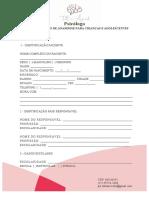ROTEIRO SIMPLES DE ANAMNESE PARA CRIANÇAS E ADOLESCENTES