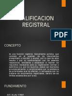 Calificación Registral. escribania