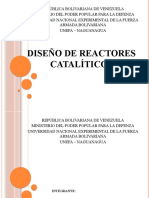 DISEÑO DE REACTORES CATALÍTICOS