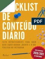 Checklist de Conteúdo - Colorido