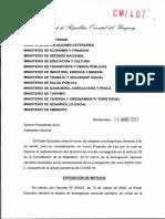 Proyecto Ley Aglomeraciones