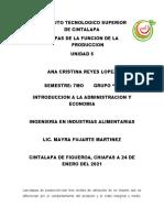 ETAPAS DE LA FUNCION DE LA PRODUCCION